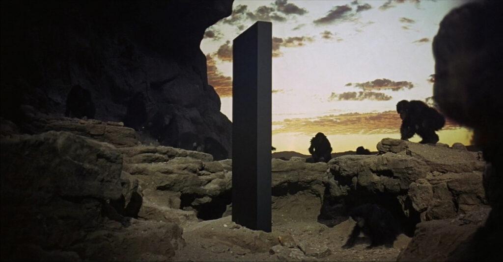 """La película """"2001: Odisea Del Espacio"""" (2001: A Space Odyssey, 1968) Dir. Stanley Kubrick basada en la novela homónima de Arthur C. Clarke."""
