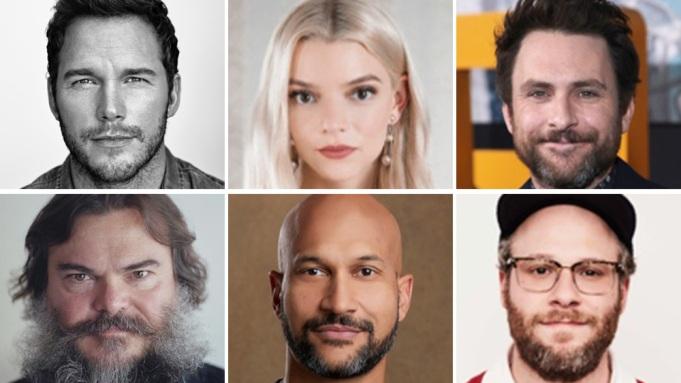 Chris Pratt, Anya Taylor-Joy, Charlie Day,  Jack Black, Seth Rogen, Keegan-Michael Key